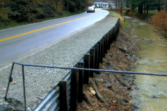 Used Guardrail used as Cribbing Roadside