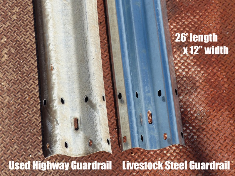 Comparison of used rail and our new LiveStock Steel rail.