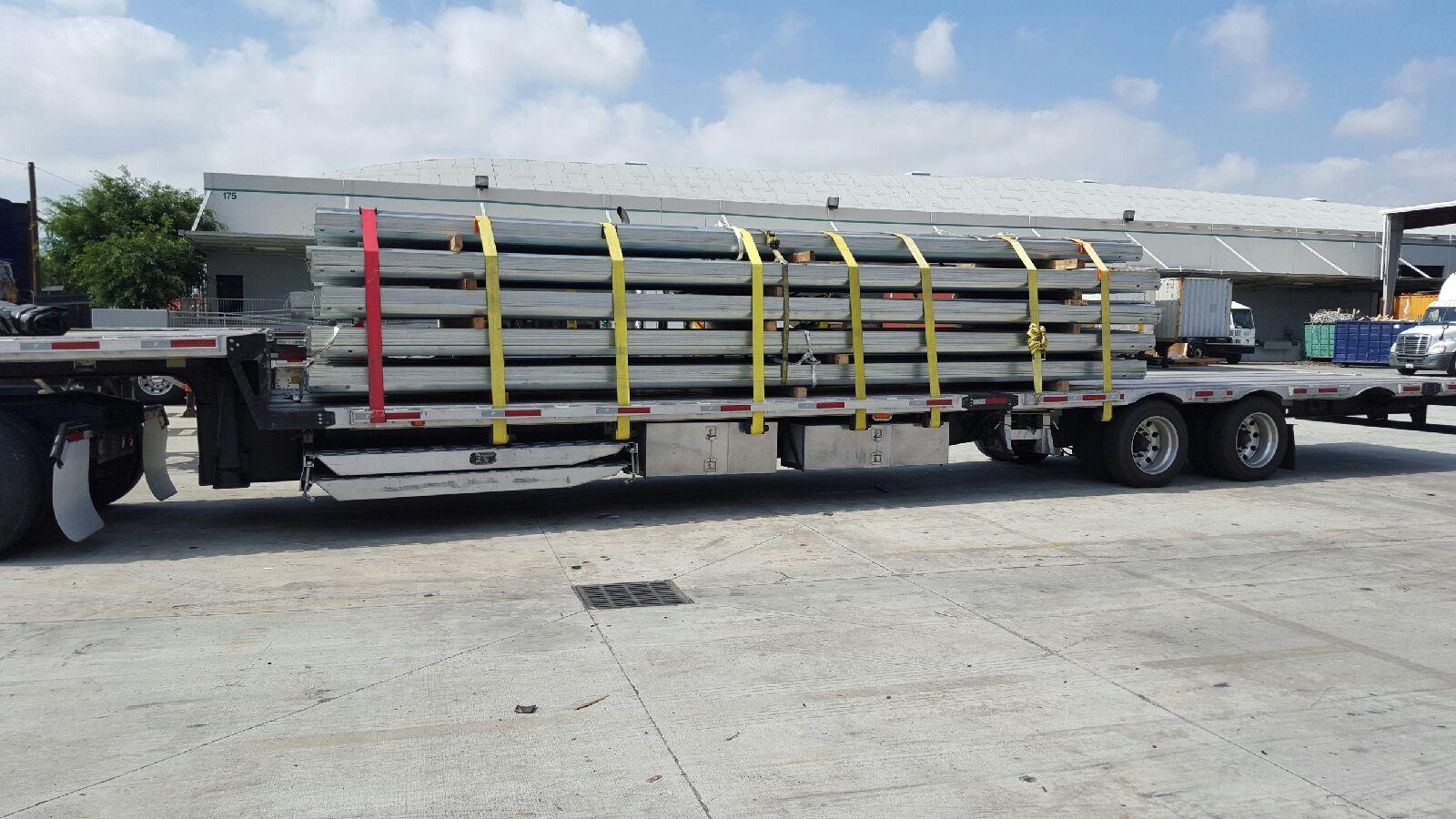 Truckloads of LiveStock Steel headed to smart Guardrail Windbreak Contractors around the US