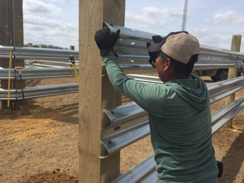 LiveStock Steel is an easy installation of guardrail