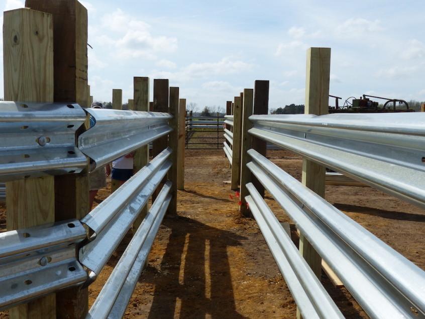 Guardrail Chute for Livestock