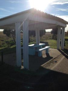 guardrail picnic shelter